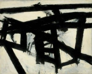 Franz Kline, Mahoning, 1956, Whitney Museum of American Art, New York.