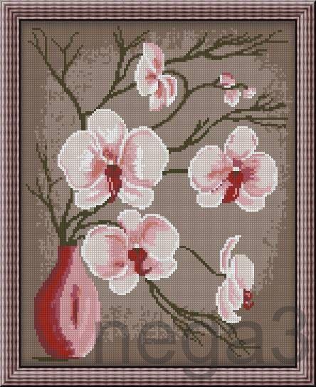 Gallery.ru / Орхидеи.Абстракция - Схемки для детей и начинающих вышивальщиц - Nega3