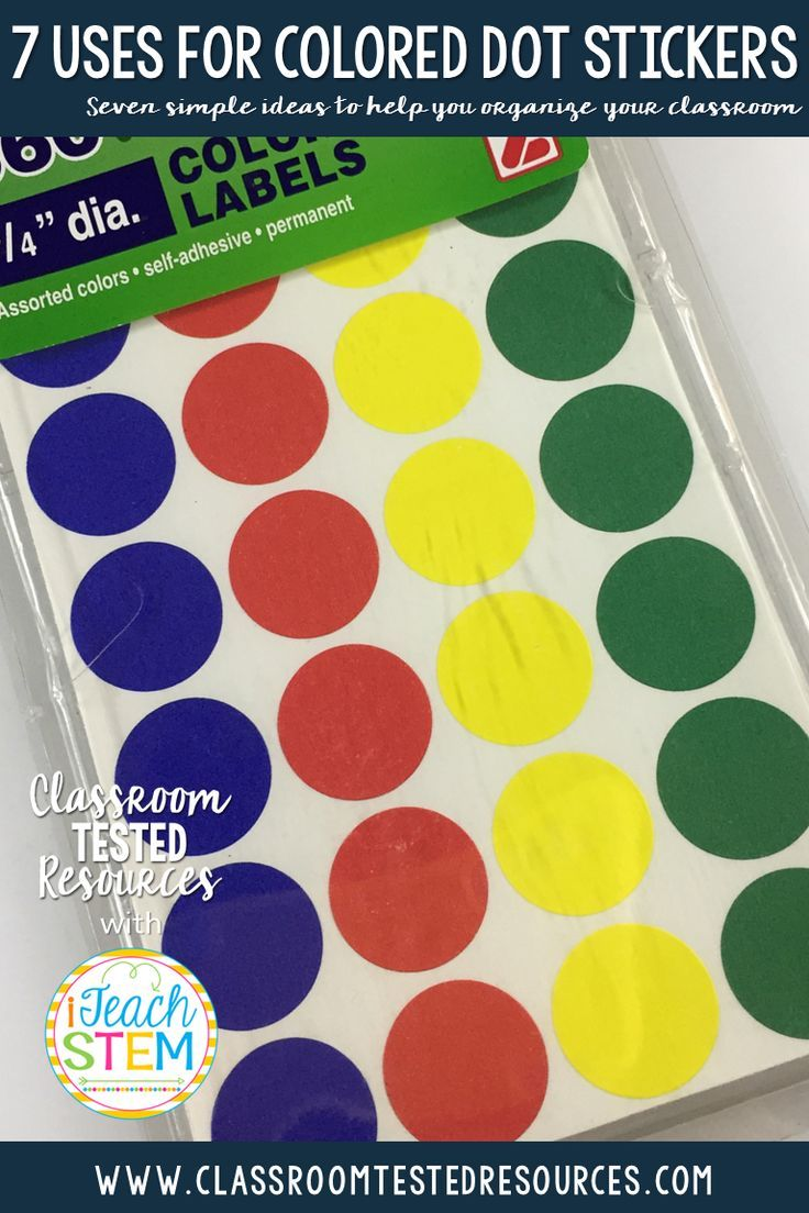 Teacher Hack: Teachers are always looking for inexpensive and effective ways to organize their classrooms. Take a minute to check out these simple ideas for using colored dot stickers to make your life a little easier.