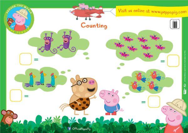 Fiches d'activités Peppa Pig pour les fans de Peppa Pig