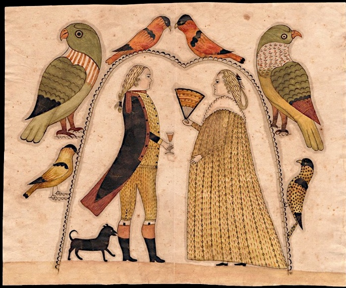 stephanfolkart.com: American Folk, Folk Art, Art Folk Primitive, Antiques Textiles, Arbors Watercolor, Early Watercolor, Birds Art Crafts Nicnac, Wedding Photos, Couple