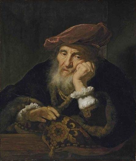 Govert Flinck - Oude man op een venster