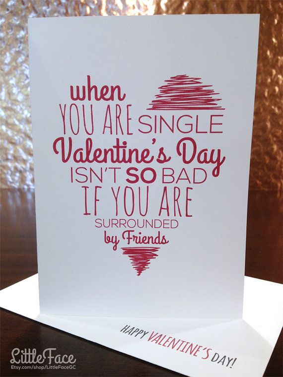 20 cute and funny etsy valentine 39 s day cards for your best for What to get your best friend for valentines day