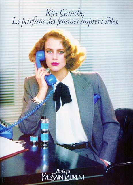 LAETITIA FIRMIN DIDOT  YSL Rive Gauche Ad  1984  #business  www.topmodelsoftheworld.com