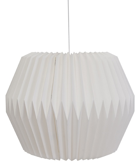 white pleated lightshade