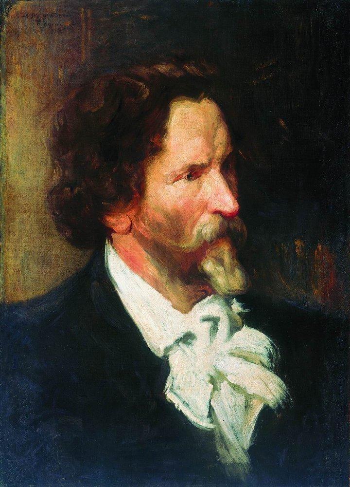 Boris Kustodiev (Russia, 1878 – 1927) Portrait of Ilja Repin, 1902