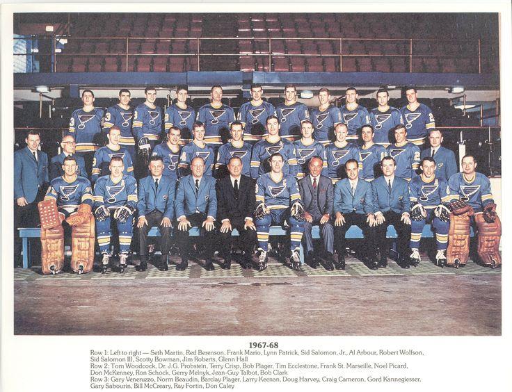 st louis blues 1967 68 team picture hockey go blues pinterest st louis blues team. Black Bedroom Furniture Sets. Home Design Ideas