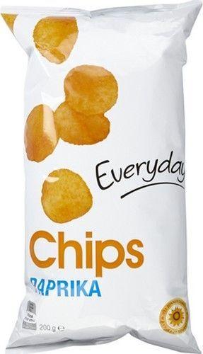 EVERYDAY chips paprika 200gr EVERYDAY chips paprika sont des chips de pommes de terre assaisonné paprika, idéale à l'apéritif ou à grignoter à tout moment de la journée Chips belge pas cher sur www.chockies.net