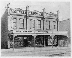 Engineers' and Colliery Supplies Depot at 129 Hunter St West,Newcastle,New South Wales in 1905.