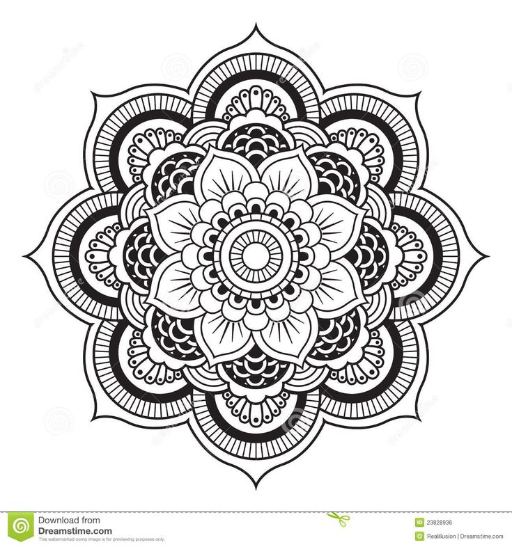 mandala patterns to print | Mandala-Abbildung. Rundes Verzierung-Muster.