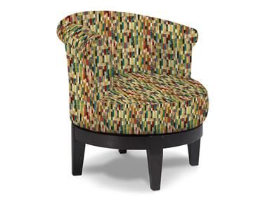 Attica Swivel Chair covered in Lipstick By Best Home Furnishings