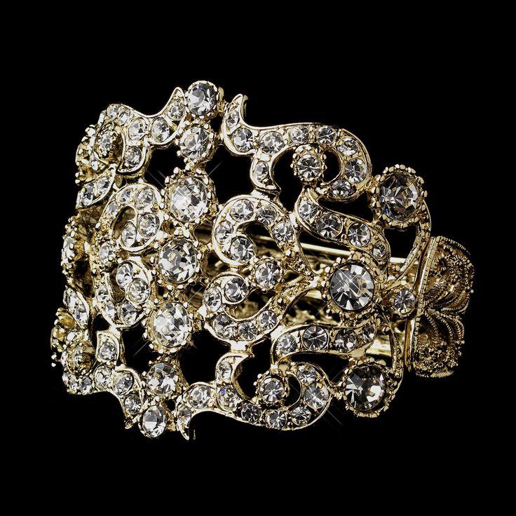 Elegant Bridal Set Heavy Gold Plated Diamante Crystal: 1030 Best ♥ Gold Weddings