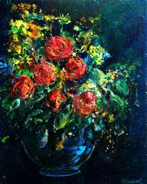 """Saatchi Online Artist Pol Ledent; Painting, """"roses"""" #art"""