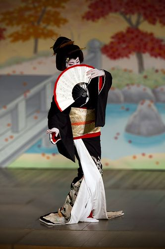 Gion-Odori, kimono. I performed odori dance for the first time at 4 years old. The last time I danced was around age 13.