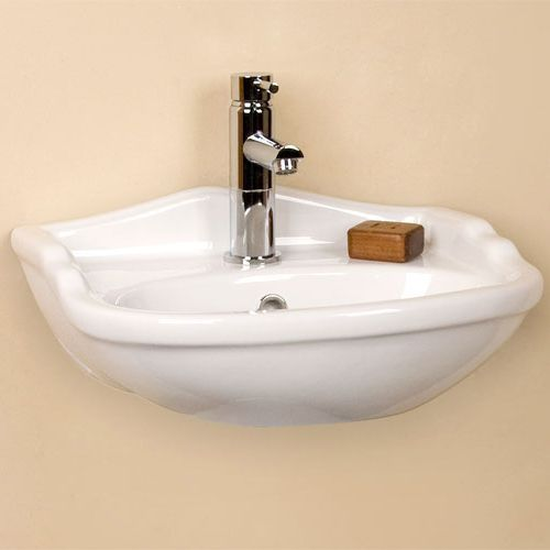 Charming Carlton Porcelain Wall Mount Sink   Single Faucet Hole Drilling   White