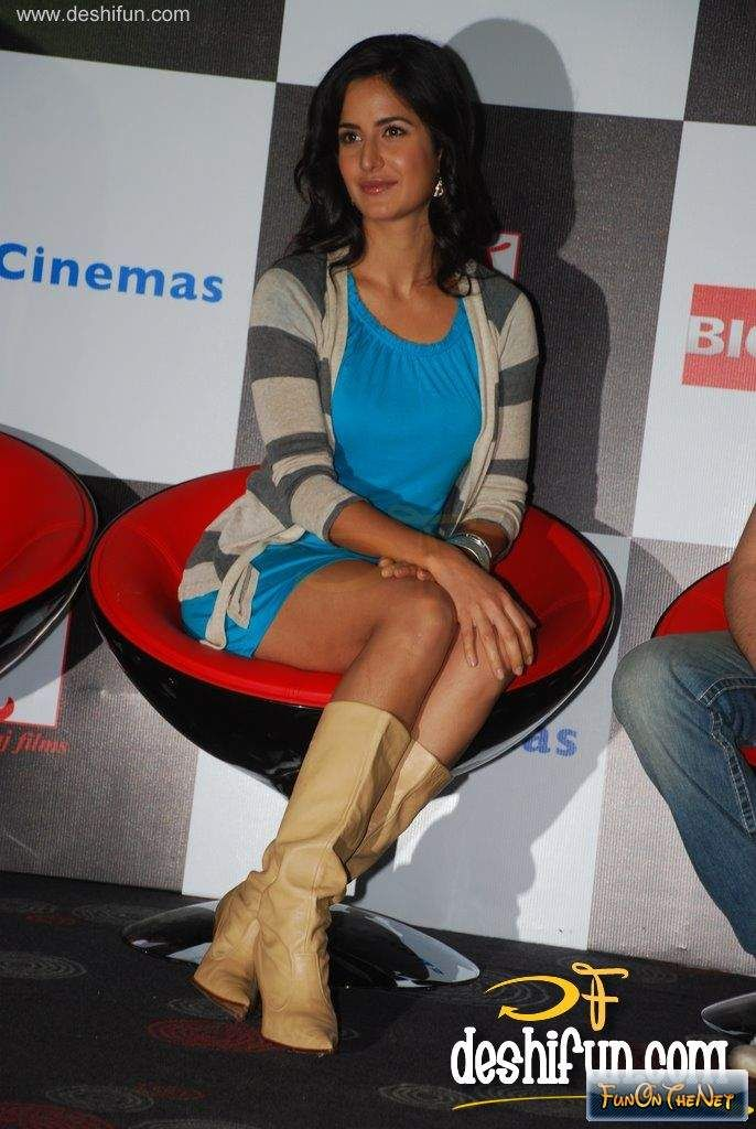 Katrina Kaif's Flaunting Legs In The Mini Skirt Hot Pics