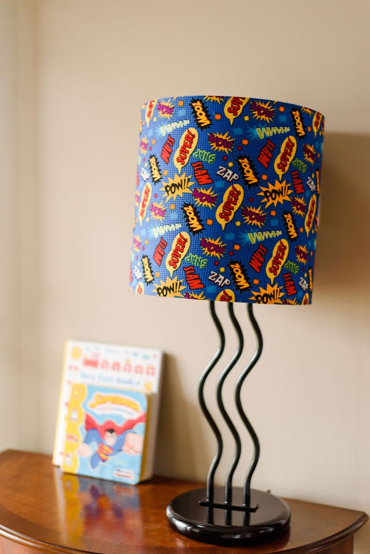 Child craft light table - How To Make A Superhero Custom Lampshade For A Child S Room