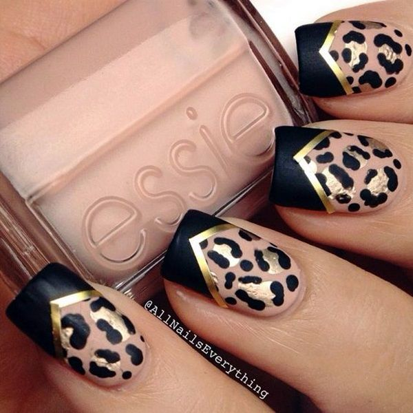 140 best leopard print nails images on pinterest nail designs 45 stylish leopard prints nail art to stand in vogue prinsesfo Gallery