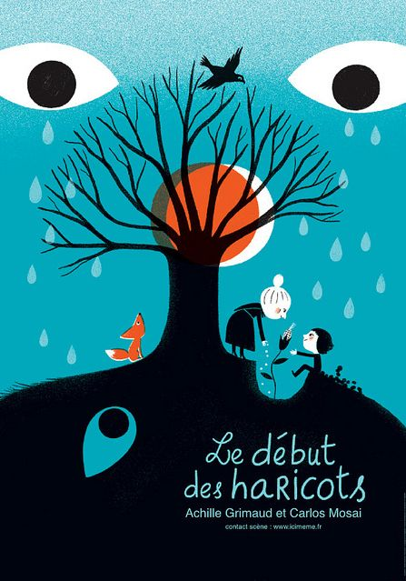 By Aurélie Guillerey, Poster for the show Achille Grimaud and Carlos Mosai.