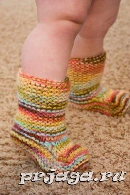 Детские пинетки и носки спицами или крючком