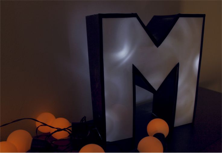 DIY letter lamp