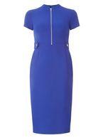 Womens Cobalt Zip Dress- Cobalt