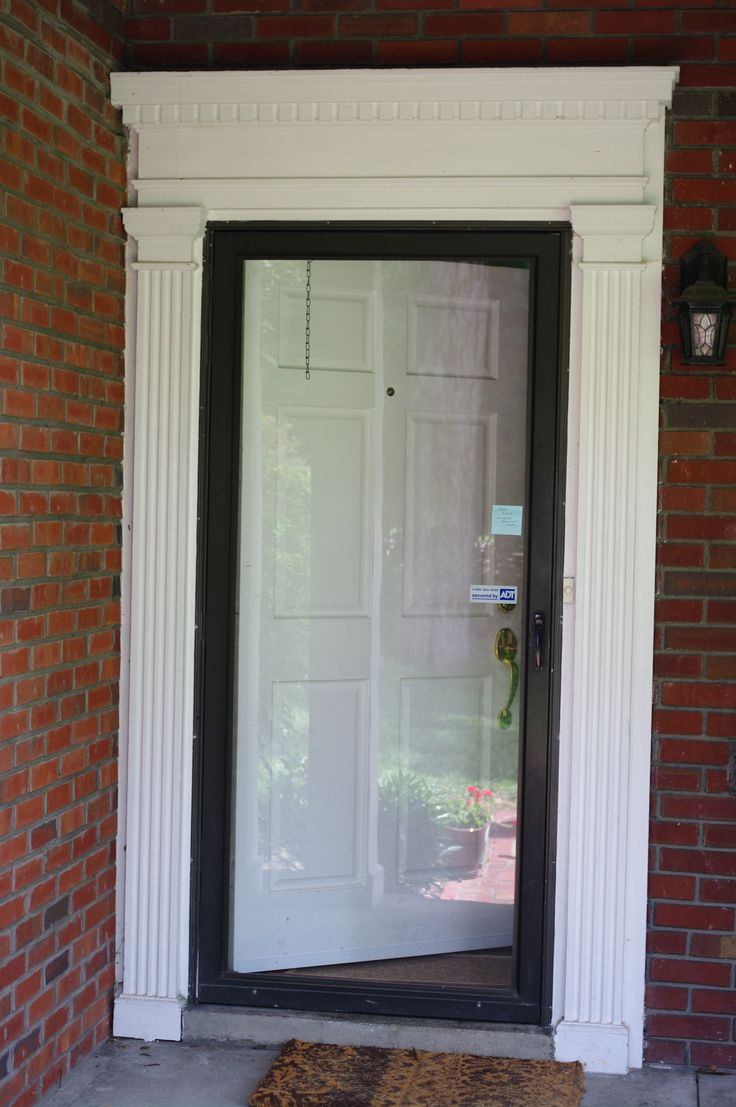 Best 20 glass storm doors ideas on pinterest storm doors glass front door with glass storm door eventelaan Image collections