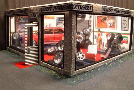 diorama showroom 1 18 buy sell diorama showroom model car on miniatures. Black Bedroom Furniture Sets. Home Design Ideas