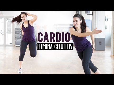 RUTINA DE CARDIO PARA ELIMINAR LA CELULITIS | Intensidad moderada - YouTube