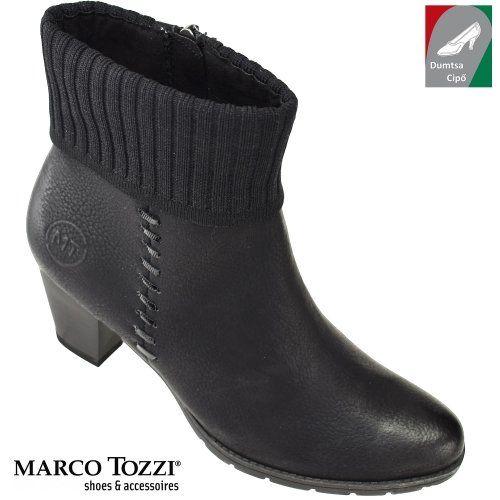 Marco Tozzi női bokacsizma 2-25331-29 096 fekete kombi