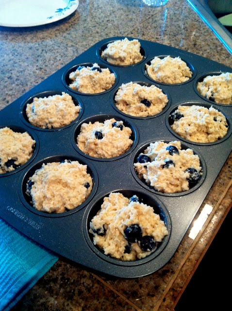 Blueberry Power Muffins - low cal and high flavor!