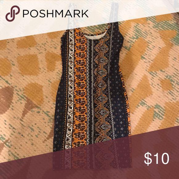 Pattern body on Boho pattern bodycon dress Forever 21 Dresses