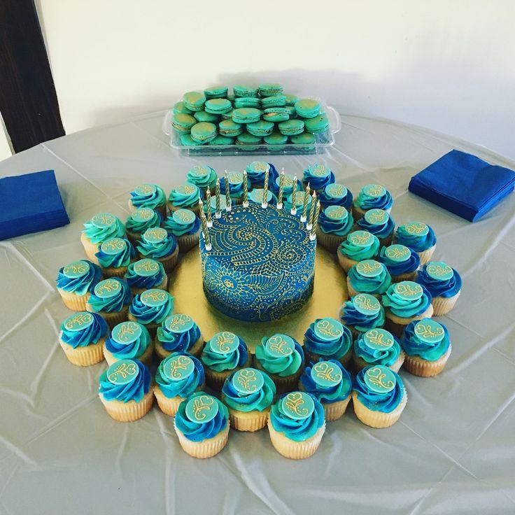 Henna cake and cupcakes