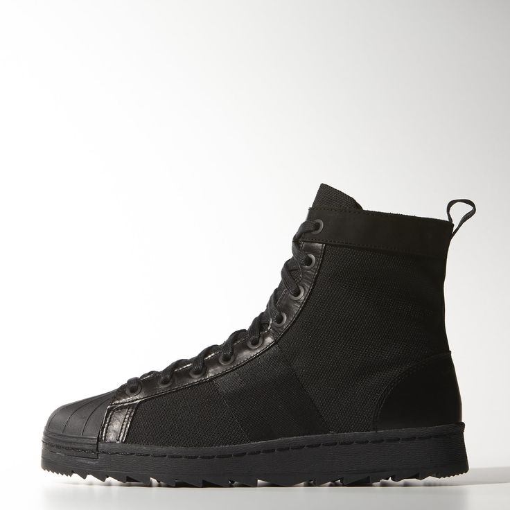 adidas superstar boots black