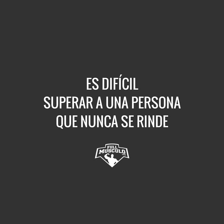 Si no te rindes serás insuperable. #fitness #motivation Más
