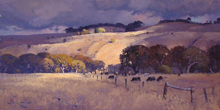 Warwick Fuller:  Sun on an Overcast Day 30 x 60cm