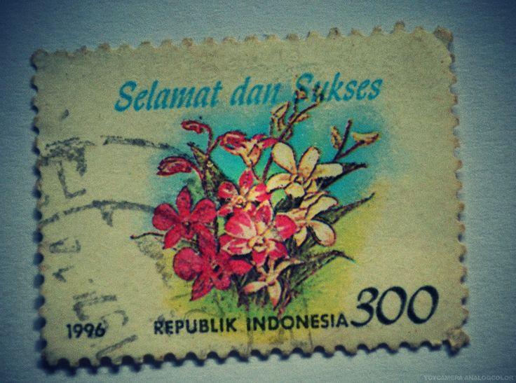 perangko Selamat dan Sukses tahun 1996 (Rp 300)
