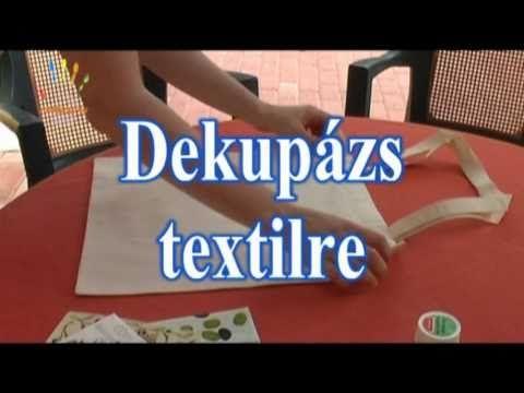 dekupázs technikával textil díszítése