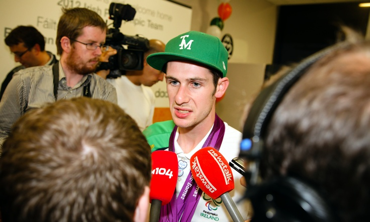 Double gold medal winner Michael McKillop returns home to Dublin Airport, Monday, September 10.