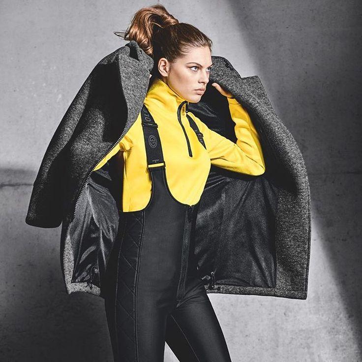 goldberghLet's go! #goldbergh #gold #wintersports #skifashion #winter #style #wintersports #yellow #salopette #topmodel #supermodel