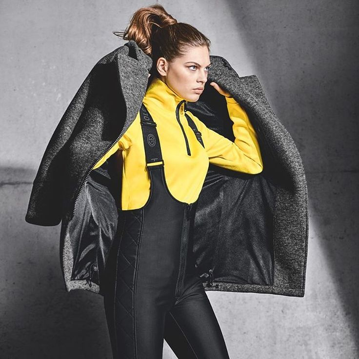 goldberghLet's go! #goldbergh #gold #wintersports #skifashion #winter #style #wintersports #yellow #salopette #topmodel #supermodel