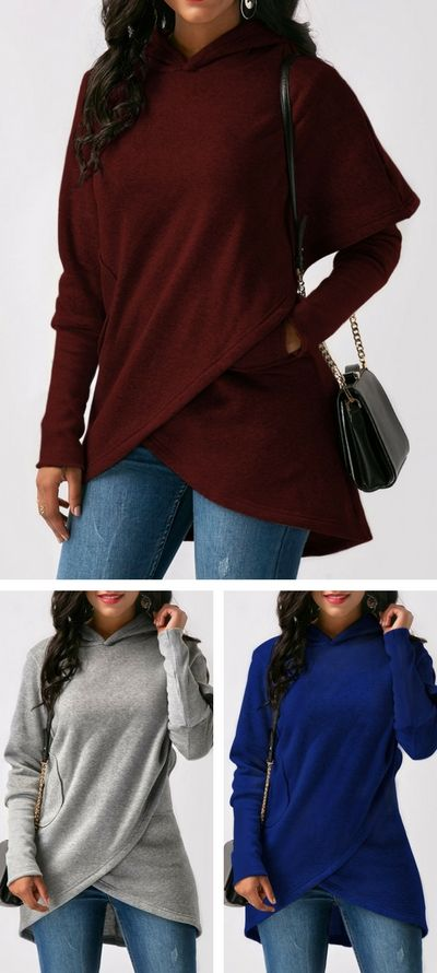 Rosewe Hoodie. hoodie, tops, outfits, cute hoodie, red wine hoodie, greyhoodie, wraphoodie, hoodedhoodie, bluehoodie, hoodies, falloutfits, fallhoodie, womenshoodie, womensfashion, long sleeve hoodie, free shipping worldwide at rosewe.com.