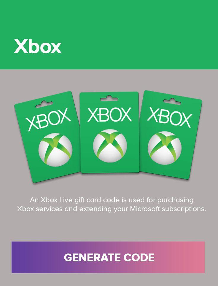 Xbox Gift Card Generator Xbox gift card, Xbox live gift