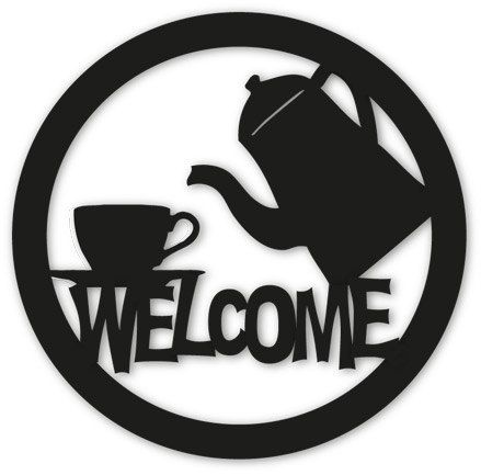Coffee or Tea Welcome Sign / Wall Art / Home Decor / Wall Hanging / Restaurant / Coffee Shop / Metal Welcome Sign / Welcome Sign via Etsy