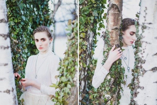 Some of Ebba Goring's jewellery in action, we love the use of complimentary tones in these photos.