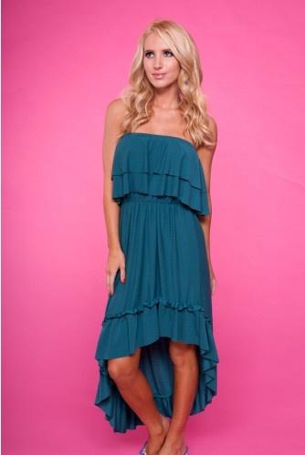 Teal strapless ruffle maxi dress: Fun Fashion, Outfits, Maxi Dresses, Beauty Dresses, Teal Strapless, Dream Closet, Maxis, Belt