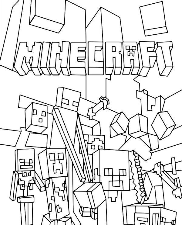Minecraft Minecraft Characters Minecraft Coloring Pages Cool Coloring Pages Coloring Pages For Boys