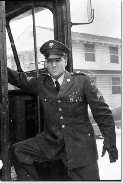 March 3, 1960  - Sergeant Elvis Presley Arriving At Fort Dix, New Jersey