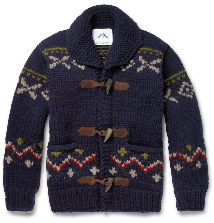 Ovadia & Sons | Patterned Chunky-Knit Wool Sweater #ovadiaandsons #cardigan