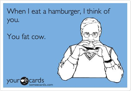 When I eat a burger, my mind goes blank